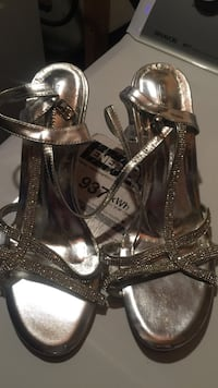 Silver low high heals with bling Red Deer, T4N 2L4