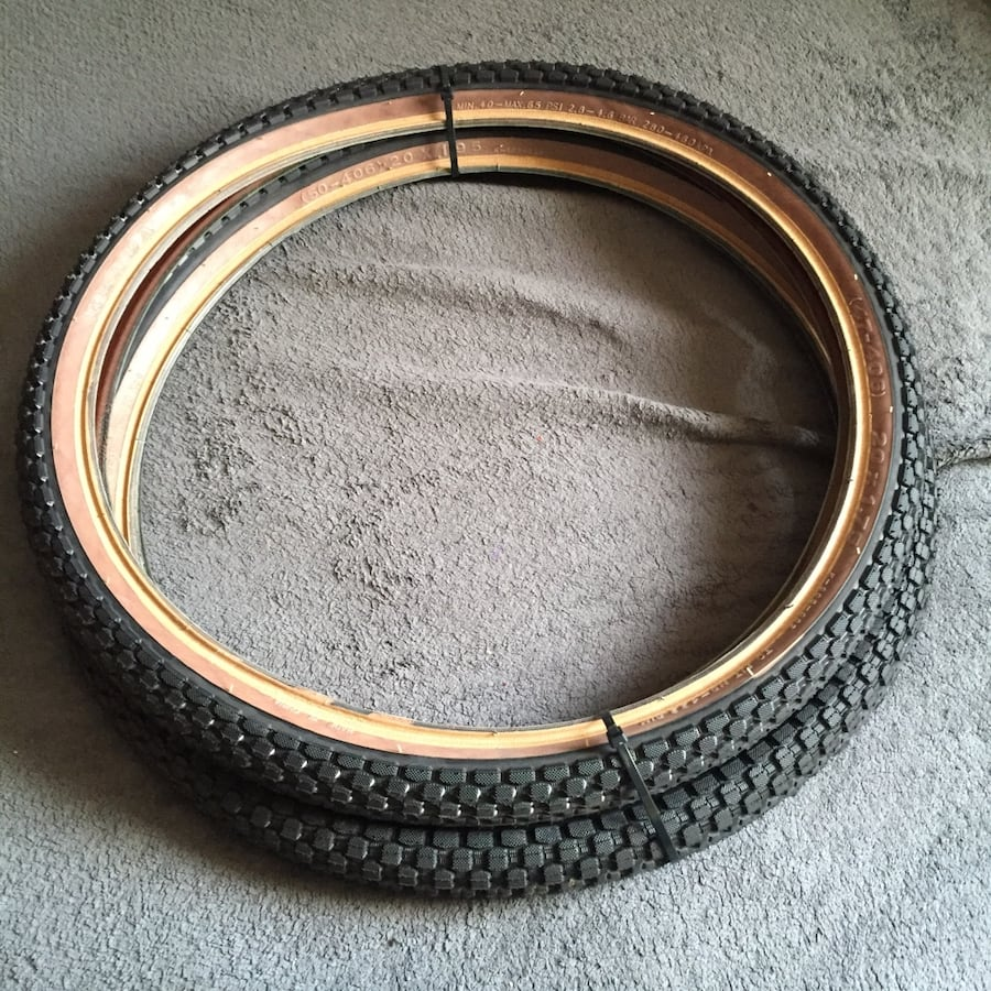 """Kenda 20"""" bmx tires. Tires were used for 3 days only."""