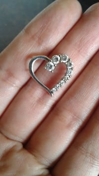 Silver heart Necklace charm Los Angeles, 91405