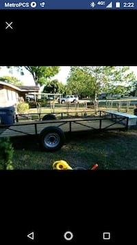 white and black utility trailer Winter Haven, 33881