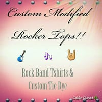 ROCK & ROLL Custome Designed Band Tshirts!!