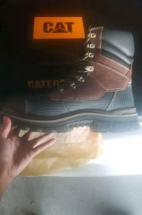 pair of black-and-brown work boots Edmonton, T5E 4A2