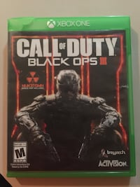 Call of Duty Black Ops 3 Xbox One game case North Little Rock, 72118