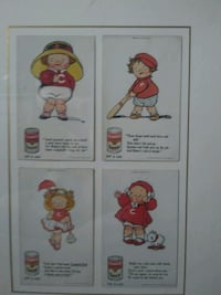 Campbell's Kids framed collectable cards 1913 Washington Township, 08080