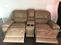 grey leather media reclining loveseat Laval, H7G