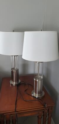 Pair of Contemporary Style Lamps with Shades