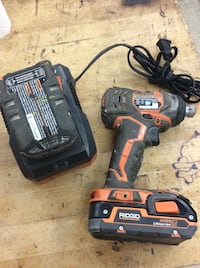 Ridgid Impact driver R86034  with 2 batteries and charger used tested 853913-2  Baltimore, 21205