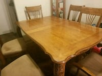 rectangular brown wooden table with six chairs din Vista, 92084