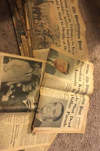 14 Antique newspapers of Kennedy assassination 1963