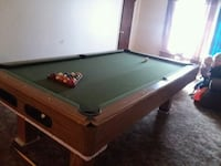 brown and green pool table Idaho Falls, 83401