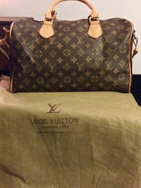 black and brown Louis Vuitton monogram tote bag Forestdale