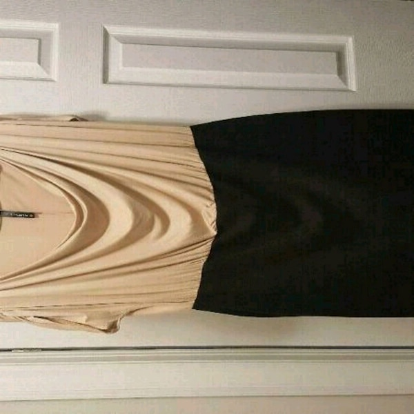 Black and Beige Dress - New condition Size14