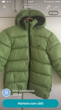 Green Zip Bubble Jacket skärmdump