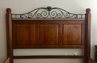 brown wooden headboard and footboard Spring, 77389