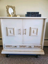 Vintage shabby chic solid wood cabinet