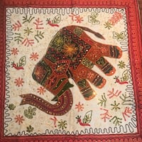 Embroidered Indian wall hanging / table decoration - Washington, 20005