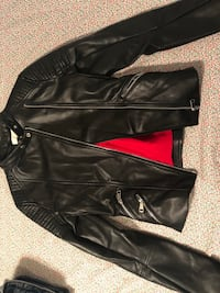 black leather zip-up jacket Gaithersburg, 20878