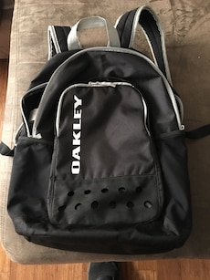 Black and grey Oakley backpack