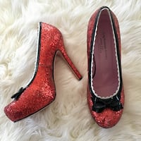 Red Sparkly Heels size 8.5 Boston, 02115
