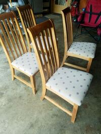 4 solid oak padded chairs Sheridan, 60551