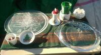 Christmas Crystal Glass serving trays and ceramic  Riverside, 92504