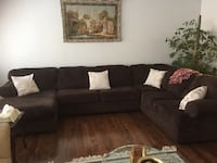 Brown Ashly sectional sofa Mississauga, L5C 1W6