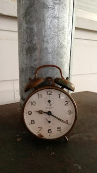 Antique German wind up alarm clock Conway