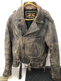 Fintage leather old school mad max jacket Edmonton, T6J 6X3