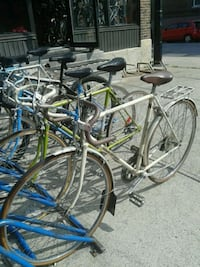 two gray and blue road bikes Montréal, H1Y 2X2