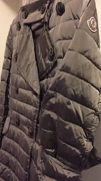 Authentic Moncler ladies coat , grey with a shine, size m Toronto, M3H 5V5
