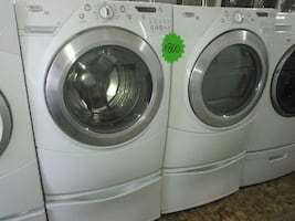 Whirlpool washer and dryer side by side