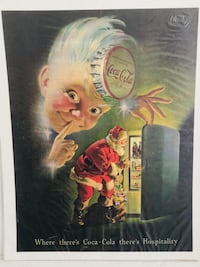Vintage Coca Cola Poster Highlands, 07732