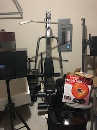 black and gray Weider butterfly machine Houston, 77032