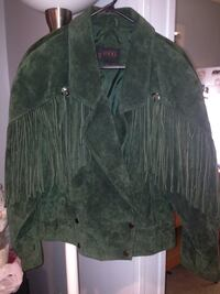 Green suede fringe coat woman's size L...great condition.... Nottingham, 21236