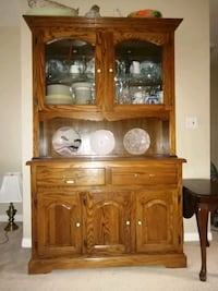 Buffet with glass hutch