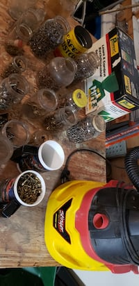 Up for grabs is a bunch of old jars filled w/ various types of screws