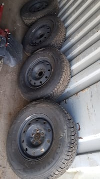 Winter tires only used 6 month  .....so now gone 2005 jeep TJ  sold too bye   Mississauga