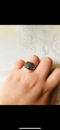 silver and black gemstone ring Fremont, 94536