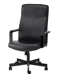 black leather office rolling armchair New York, 11375