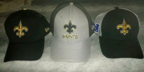 3 New Orleans Saints hats