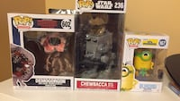 Chewbacca starwars, demogorgon stranger things & minion FUNKO pop Brampton, L6Y 4H3
