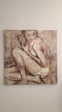 Large Naked woman painting 40 by 40 Vaughan, L4H 3X2