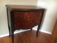 brown and black wooden side table 1 mi