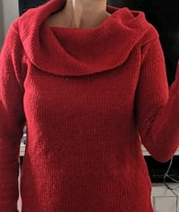 small size cowl neck sweater
