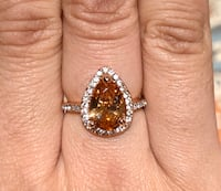 Size 7 Simulated Citrine Pear Shape Ring Woodbridge, 22193