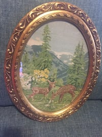 """Gold Frame with glass 14""""x 1 foot"""