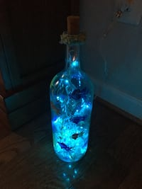 Handmade light up seascape wine bottle Vienna, 22182