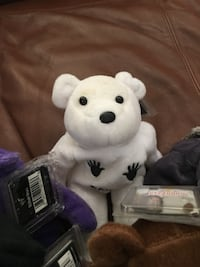 White and purple bear plush toy Florence, 39073