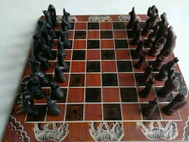 Black and Brown Chess Board