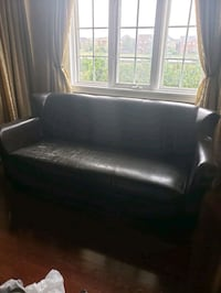 Pleather Space Saving Couch - Brown